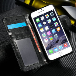 For iPhone 6 Leather Case, TOP Quality Split PU Wallet Leather With Card Slot For iPhone 6 Case