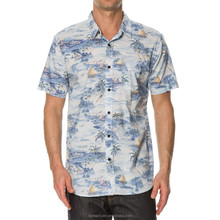 china wholesale shirts cheap custom shirts short sleeve floral print hawaiian mens shirts