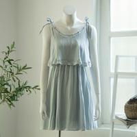 2016 latest design gypsy style Falbala Sleeveless Halterneck Midi cotton A line Holiday Strap Dress
