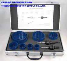 CARBIDE TIPPED HOLE SAW SET