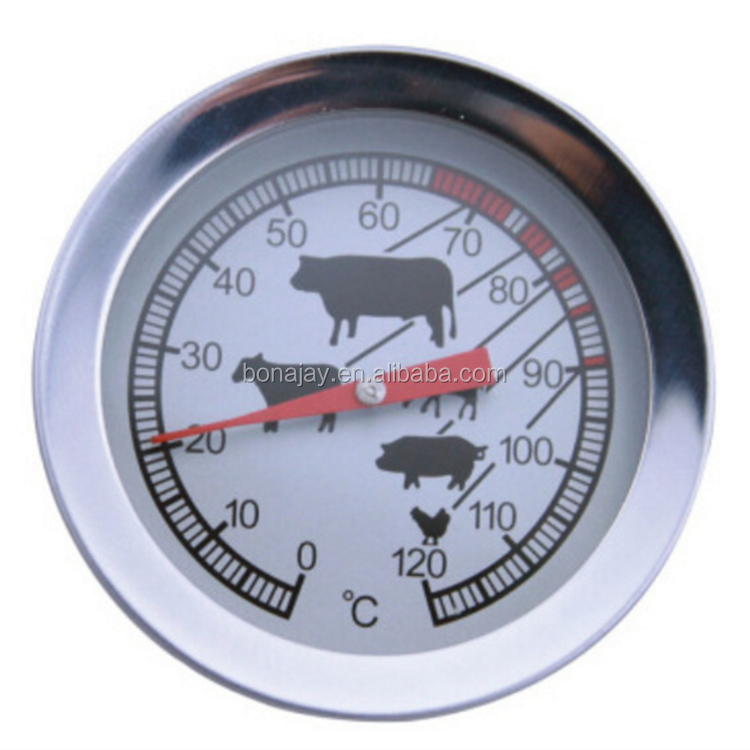 Beef BBQ thermometer 0-120 degree food special probe type coffee milk thermometer