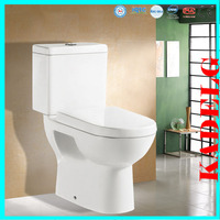 Western style outdoor public ceramic two piece toilet bowl