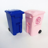 2016 NEW DESIGN Wheelie Bin Pen Holder,Mini pen holder,waste bin pen holder