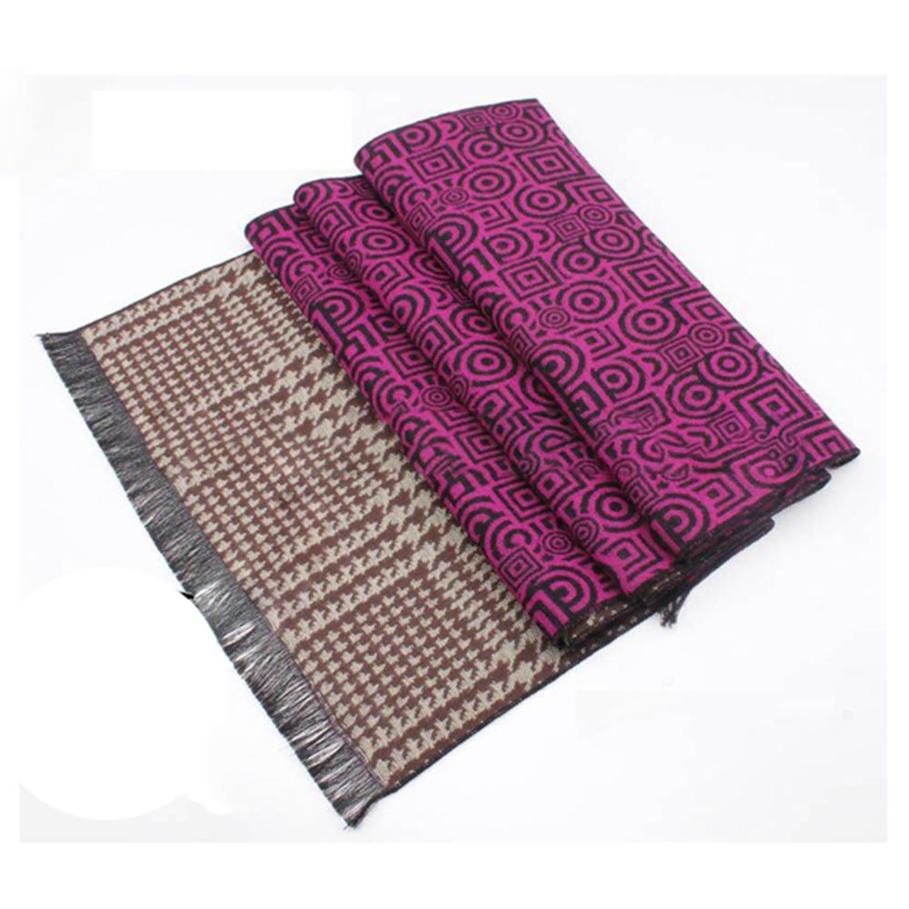 Woven Wholesale Winter Muslim Scarf With Two Designs