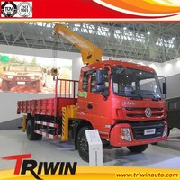 china hot sale 170hp 4x2 8 ton cheap truck mounted crane truck price
