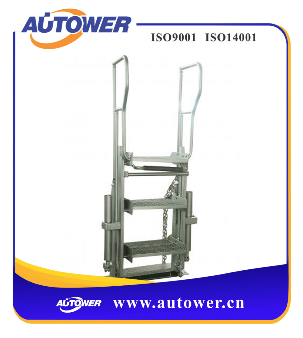 ISO9001 competitive handle easier and work stable two step movable ladder