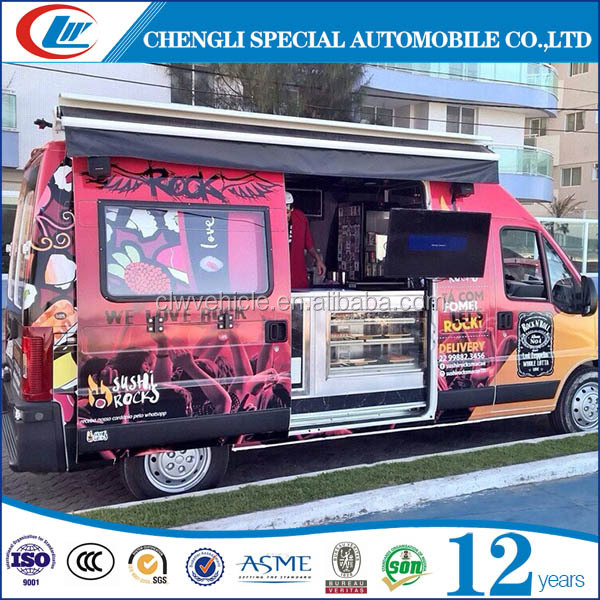 Chengli MPV Refitted Mobile Food Van Refrigerator Truck for Sale