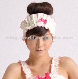 Plain Dyed Cotton Elastic Hair Band for girls