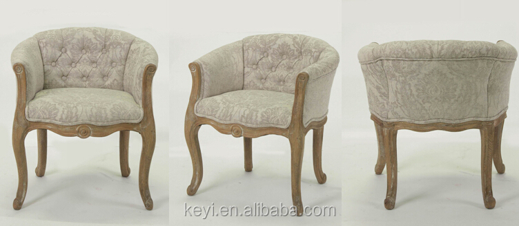 home furniture hand carved wooden armchair(CH-939-1-Oak)