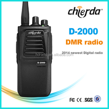 New design Chierda digital texting army handheld FCC DMR walkie talkie full duplex CD-D2000