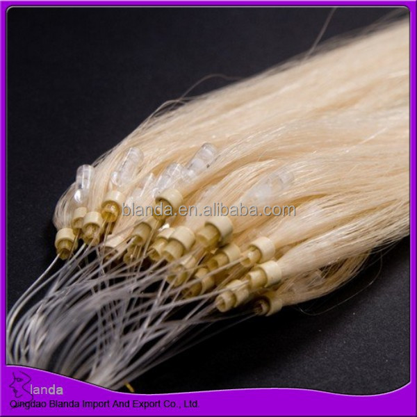 100 Brazilian virgin hair micro ring hair extensions