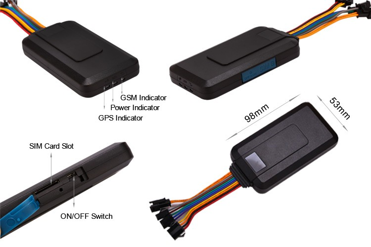 tr06 vehicle gps tracker with real-time tracking gsm tracker device no spy gps303