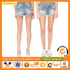 Sexy Faded Wash Cutoff Shorts Vintage Shredded Holes Denim Ripped Jeans Shorts For Women Apparel