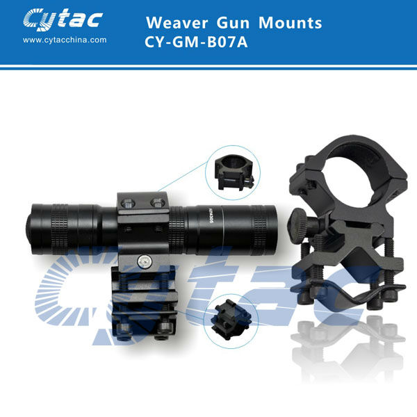 Cytac 25.4mm Tactical Picatinny Rail Flashlight/Laser Sight/Scope Mount