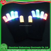Nylon light up black glove