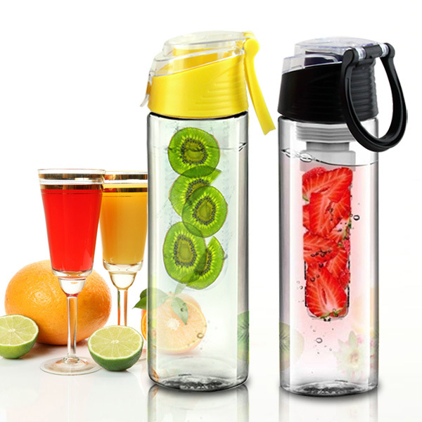 bpa free tritan plastic infuser pitcher customize and wholesale portable water bottle shaker with filter