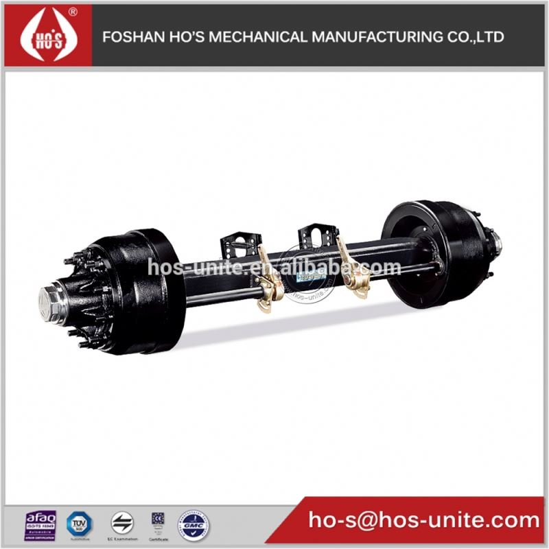 guangdong hos 127mm beam Port/Terminal Tractor Axles for trailer