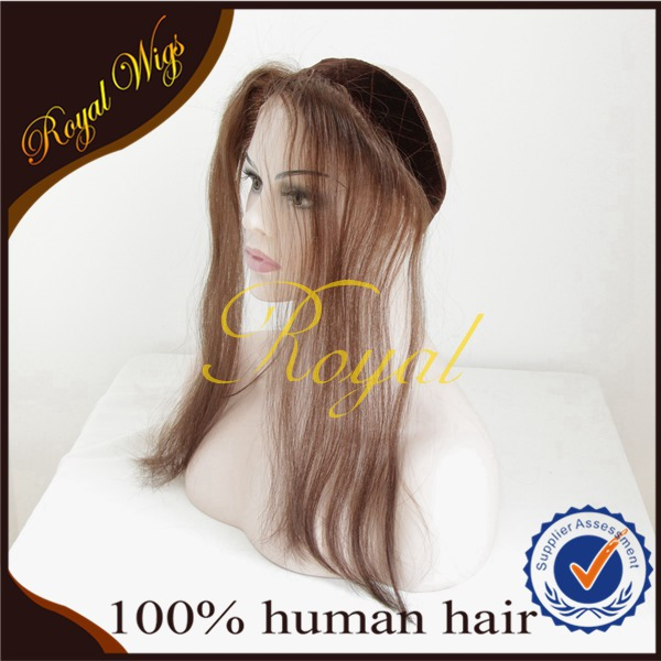 2015 Factory Wholesale Hot Sale Mongolian Human Hair Lace Front Velvet Head Bnd Iband Wig Grips