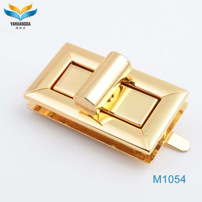 plain metal brass bag lock for bag accessory