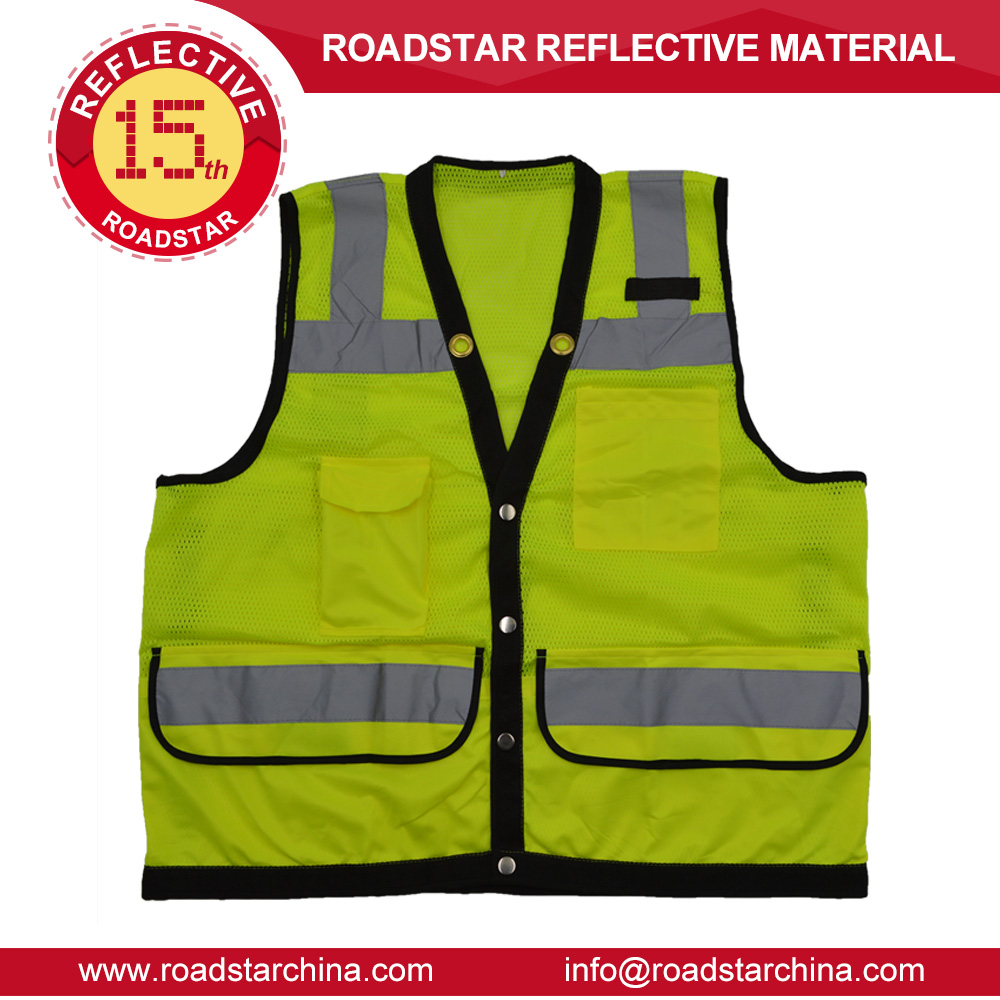 Brand-new safety equipment for construction safety vest with many pocket