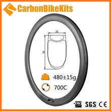 2016 CarbonBikeKits fast speed bicycle carbon clincher rim 50mm 18 holes basalt brake WR50C