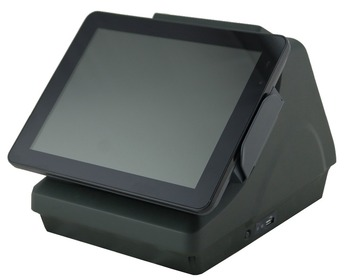 Anypos200, android pos, built-in 80mmm printer and customer display, 9.7'', 142'', PCAP