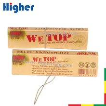 Pure Natural gum elastic string closure smoking rolling papers custom with filter tips