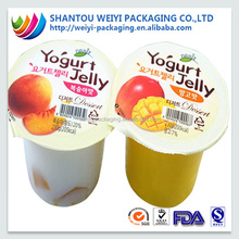stretch cling film/plastic cup lid film/sealing film for jelly packaging