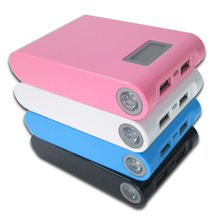 12000mAh LCD External Power Bank Dual USB Battery Charger for psp Iphone Sansung etc