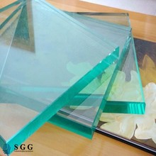 High Quality 19mm Clear tempered safety glass m2 price