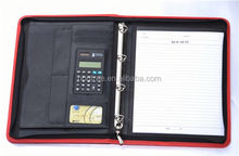 2014 HONTREE wholesale Leather photo portfolio with Calculator for office