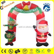 Christmas frosty snow man inflatable archway, Christmas candy inflatable arch