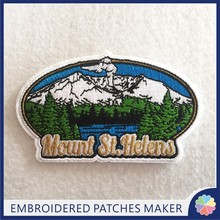Professional Custom Company logo Patches Product Type and Embroidered Technics Iron on patches