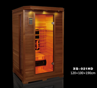 2 People Ceramic Heater Infrared Sauna small prefab cabin for sale with Wooden Holder(CE/ETL/RoHS)