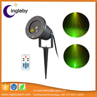 Garden Tree and Wall Decoration Outdoor Laser spot lights for holiday Lighting(Green and blue leds)
