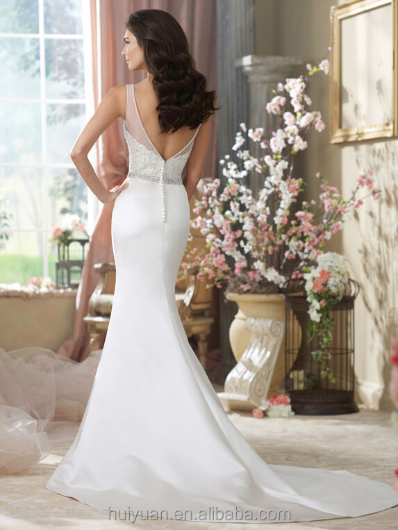 sexy backless off shoulder lace A-line unique wedding dresses