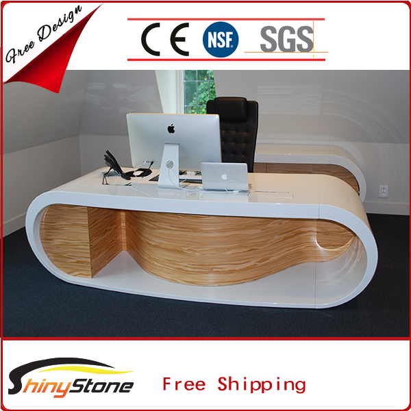 Contemporary high-end boss office acrylic solid surface office furniture