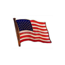 fashion single american flag metal lapel pin