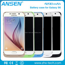 samsung power bank mobile cover Cell Phone Battery Charger Portable Charger Battery Back Up Case For galaxy s6
