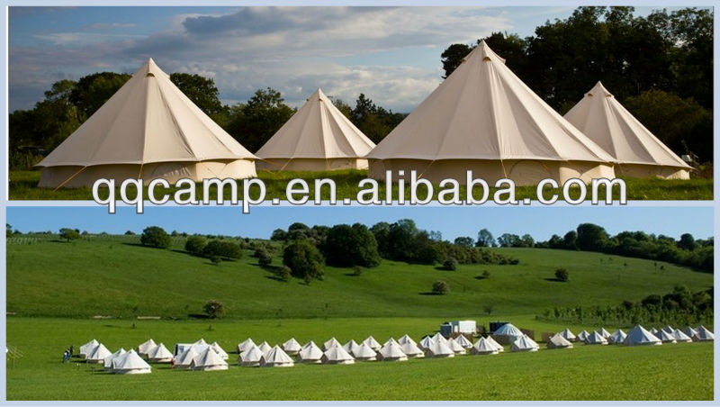 5X5M Bell tent Europe canvas tent camping tent safari tent for sale