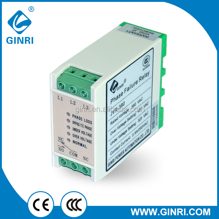 GINRI China OEM factory JVR-380 Voltage Relay with CE certificate