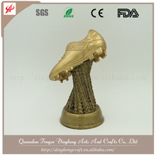 Resin World Soccer Shoe Award Wholesale Football Trophy Making Supplies