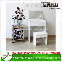 cheap price wooden dressing table with mirror and stool
