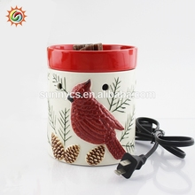 Hot selling decor christmas oil custom wax burner ceramic incense burners with high quality