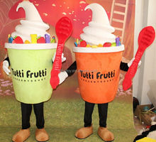 Funtoys CE custom Logo frozen yogurt mascot costume commercial