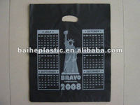HDPE large die cut handle bags for shopping custom