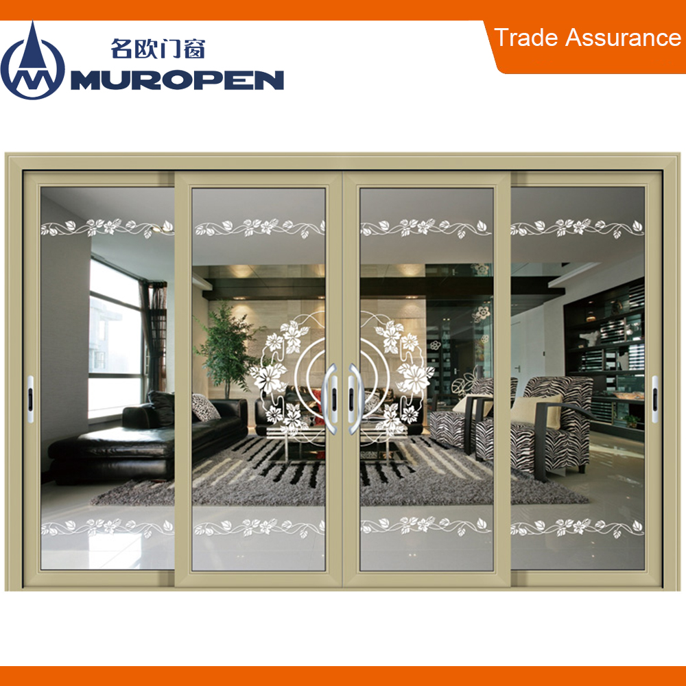 China factory 10 years warranty luxury Interior aluminium sliding door