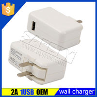 wholesale 5v 2a folding plug custom mobile phone wall charger