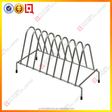 commercial metal dish rack/kitchen display rack/wood dish rack
