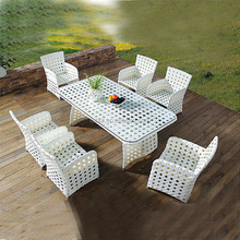 outdoor rattan chair, 8 seater rattan dining table garden furniture, rattan dining chair HFC-003